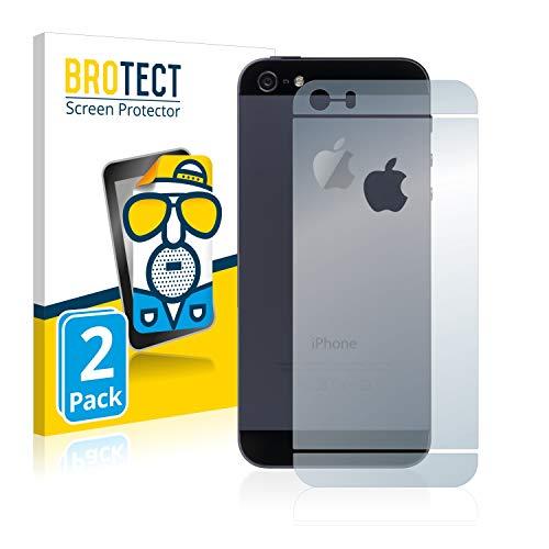 BROTECT Entspiegelungs-Schutzfolie kompatibel mit Apple iPhone SE Rückseite (gesamte Fläche + LogoCut) (2 Stück) - Anti-Reflex, Matt
