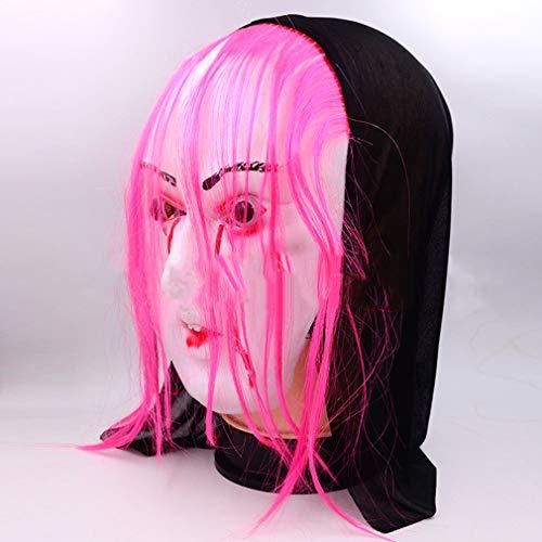 AND Ghost Festival beängstigend Halloween Horror Dress Up Bar Show Secret Room Entkommt Horror Blut-Sucking weibliche Geist Maske