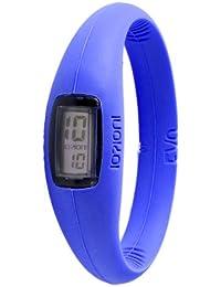 IO?ION! Evo Electric Blue - size III E-ELB08-III - Reloj digital de cuarzo unisex, correa de silicona color azul