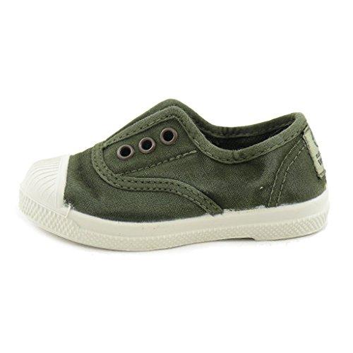 Natural World Chaussures en Coton avec Fond de Caoutchouc Unisex 470E622 Vert Taille: 21