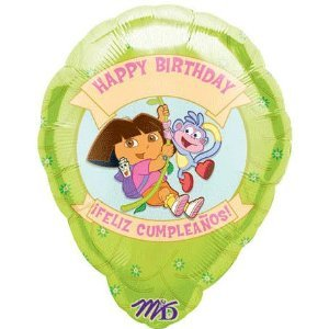 Factory card and party outlet dora l' esploratrice personalized 18 in balloon