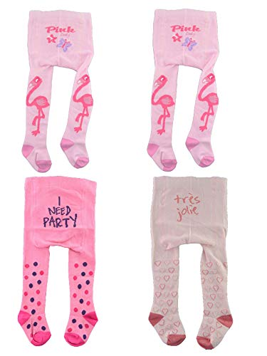 C&C KIDS Baby Strumpfhosen,4Pack,74/80,Rosa/Pink