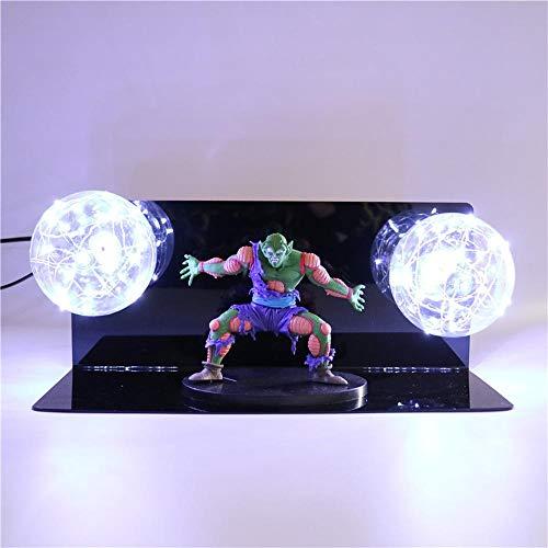 Dragon Ball Z Piccolo Lámpara de mesa Iluminación decorativa Anime Lámpara DIY Figura de acción Lámpara de mesa Niños Niños Juguete de luz LED, BLANCO