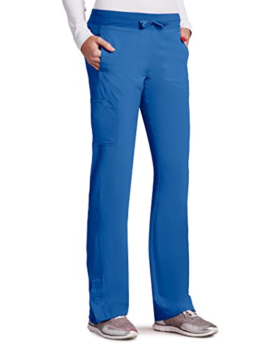 Barco One Women's 5205 Low Rise Knit Waist Cargo Track Scrub Pant- New Royal- 3X-Large (Barco Scrubs)