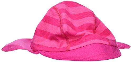 maximo Mädchen Mütze Schildmütze, Nackenschutz, Rot (Pink/Dunkelpink 405), 51
