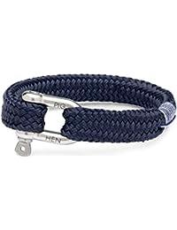 Pig & Hen Men Stainless Steel Rope Bracelet - P14-63000-L