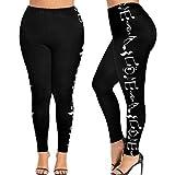 41HQbhbCzmL. SL160  - Pantaloni di Yoga  - Luoluoluo Pantaloni Tuta Donna ,Moda Donna Alta Vita Più Dimensioni Yoga Pant, Donne Sport Pantaloni, Musica Nota Stampa Leggings Pantaloni -