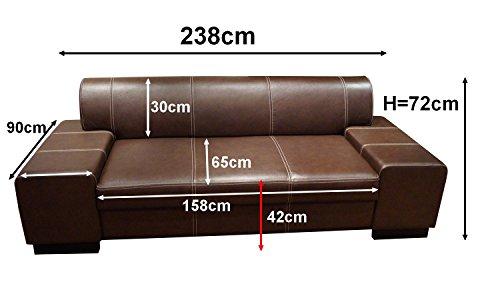 Super Lange Echtleder 3 Sitzer Sofa-180921150022