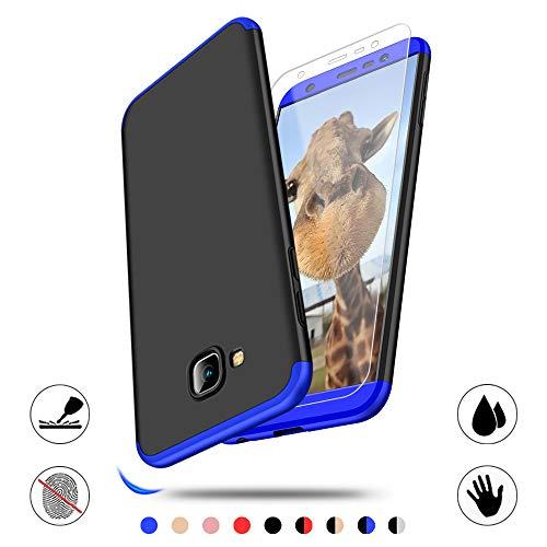 AChris Samsung Galaxy J4 Plus J4 Prime Hülle mit Schutzfolie 360 Grad Handyhülle Schutzhülle Schutzhülle aus Hart-PC Ultra Dünn Rückseite Stoßfest für Samsung Galaxy J4 Plus J4 Prime