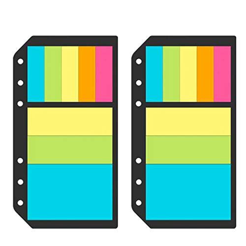 Joyibay 2 Legen Sie den Notizblock für die Registerkarte Klebeblatt-Index für die Office School fest