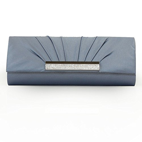Women 's Nobile Accessori Abito Da Sposa Abito Vintage Clutch Purse Partito Gray