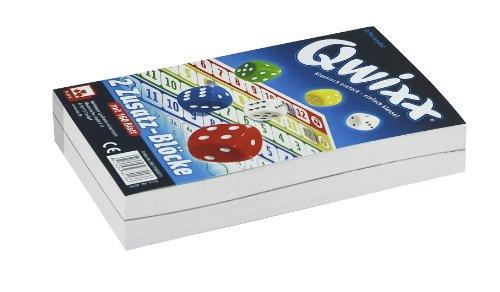 NSV - 4016 - QWIXX ZUSATZBLÖCKE, 2 x 80 Blatt - Würfelspiel