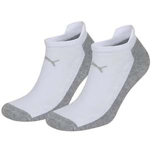 PUMA Unisex COOLMAX Sprint Sneakers Socken Sportsocken white / grey 062 - 43/46 2er Pack