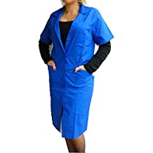 Fratelliditalia - Camisa de mujer, bata de maestra, de algodón, mujer, turquesa