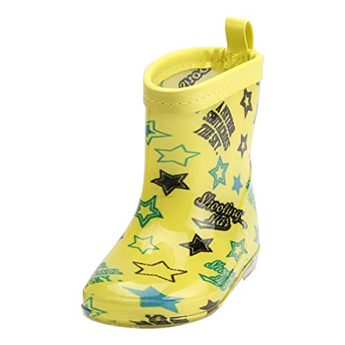 YIBLBOX Baby Infant Toddler Boys Girls Wellies Wellington Pattern Waterproof Rain Boots PVC Rain Shoes
