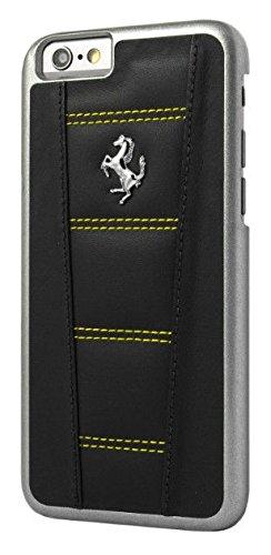 Ferrari harte Leder-Hülle mit Naht für Apple iPhone 6/6S (11,9 cm (4,7 Zoll)) schwarz/gelb