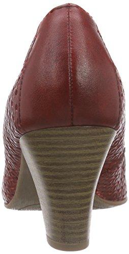 Jana 22401, Chaussures à talons - Avant du pieds couvert femme Rouge - Rouge pâle