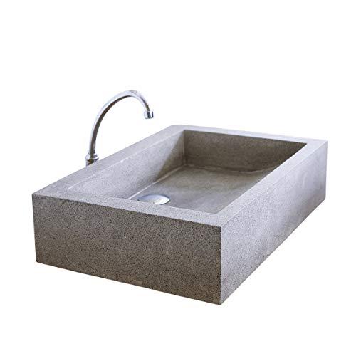 Luxus Platz Terrazzo Material Arbeitsplatte Waschbecken, Gewaschen Natürliche Grau Beton Farbe...