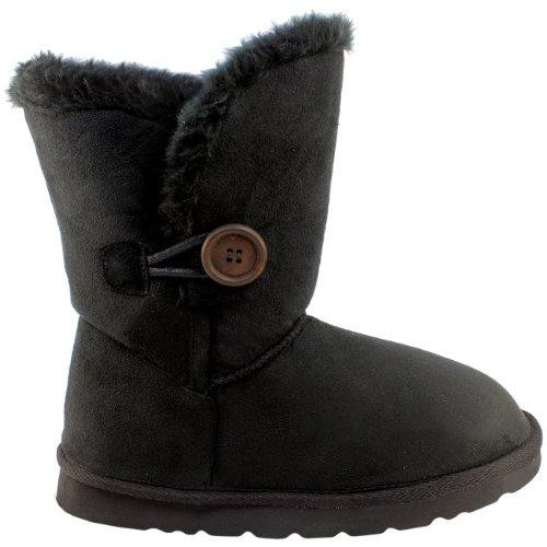 damen-schuhe-single-knopf-fell-schnee-regen-stiefel-winter-fur-boots-schwarz-37-aea0079