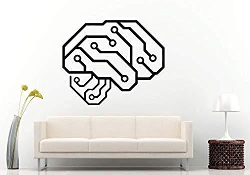 wandaufkleber art deco wandbild applique abnehmbare wasserdichte tapete Wandaufkleber Neurelectric Human Brain Platine Vinyl Wandtattoo Schlafzimmer Room Decor Interior Poster 42x50 CM - Applique Alphabet