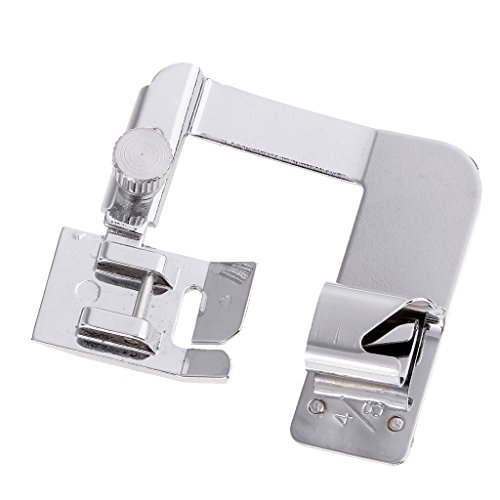 MagiDeal New Household Practical 4/8''inch/ 6/8inch Wide Rolled Hem Foot Hemming Presser Feet Domestic Sewing Machine Parts for Brother Singer - silver, 13mm
