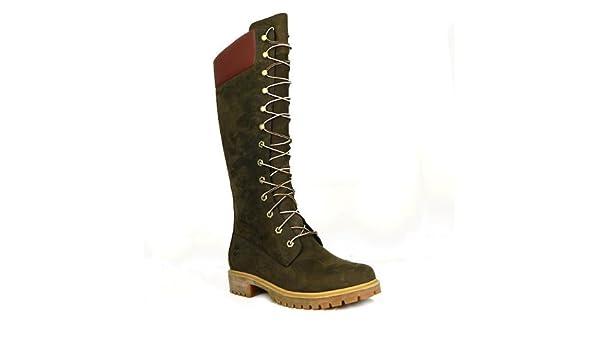 df6fc4e7760 Timberland 3753R pour femme en cuir Nubuck Bottes montantes 14 cm - Marron  - marron