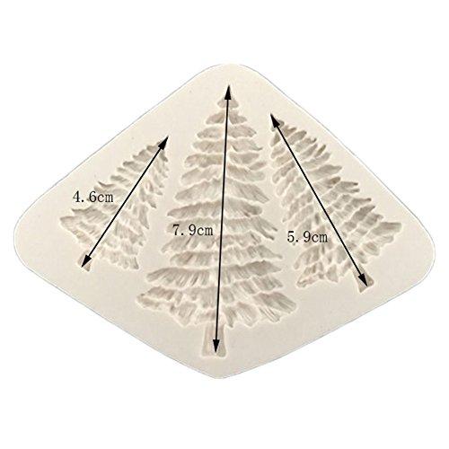 Dreammy Weihnachtsbaum geformt Silikon Form Kuchen Dekoration Fondant Cookies Werkzeuge 3D Silikon Schimmel