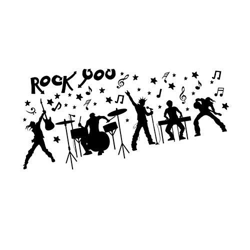 Musica adesivo da parete rock band