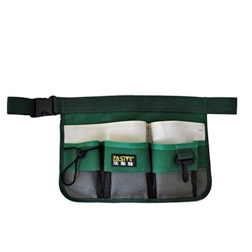 BESTOMZ Gartenwerkzeug Tasche, Gartengerätegürtel mit Multi-Pocket für Gartenarbeit (grün)