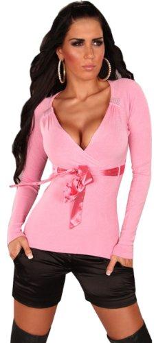 in-style-pullover-da-donna-con-scollo-a-v-cintura-band-taglia-unica-34-38-rosa-taglia-unica