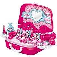 Blue-Yan Play House Toy - Juego de tocador con Espejo y Maleta de Juguete para niños