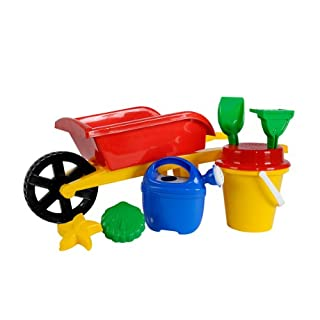 Simba 107136235 Toy Wheelbarrow with Gardening Tools 2 Assorted Colours