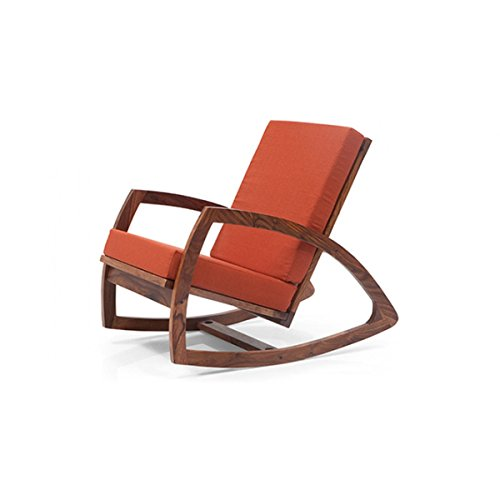 Custom Decor Coaster Southern Country Plantation Porch Rocker/Rocking Chair, Mohagany Wood Finish  available at amazon for Rs.6999