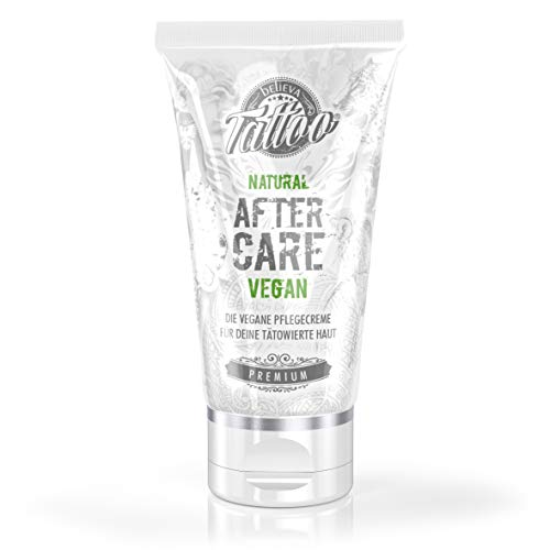 Believa Tattoo Pflegecreme - Vegane Tattoopflege nach dem Tätowieren 50ml Deluxe Butter