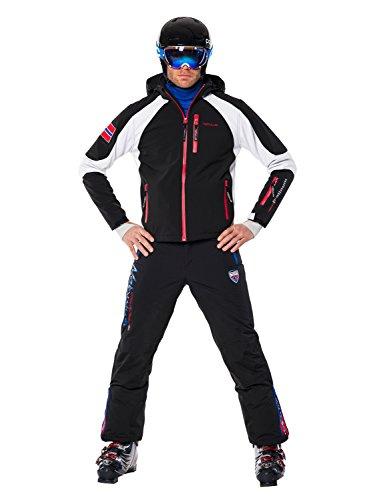 Nebulus Platinum Rockshell Veste de ski homme Noir/Blanc FR : L (Taille Fabricant : L)
