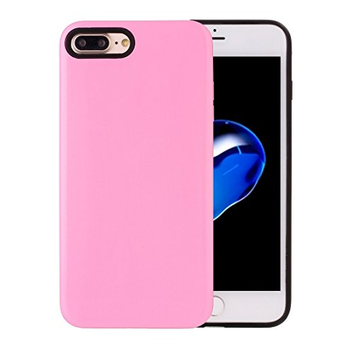 Hülle für iPhone 7 plus , Schutzhülle Für iPhone 7 Plus TPU + PU Kombi-Schutzhülle ,hülle für iPhone 7 plus , case for iphone 7 plus ( Color : Blue ) Pink