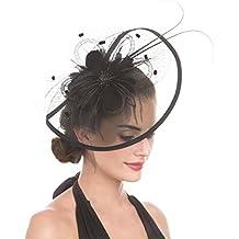 LUCKY Leaf Las mujeres chica tocados pelo Clip Horquilla sombrero boda coctel Tea Party sombrero de