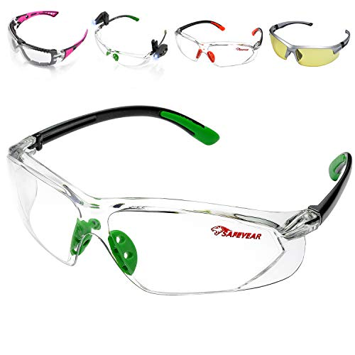 Scopri offerta per SAFEYEAR Occhiali Protettivi da Lavoro Uomo Trasparenti con Lenti antiappannamento - SG003GN Laboratorio Chimico Antiappanno Occhiale Protettivi Occhiali Di Protezione CE EN166 Colore Verde