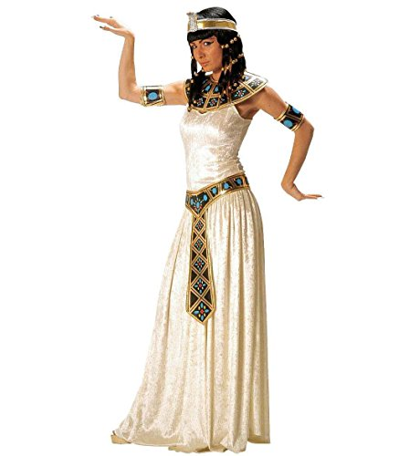 Widmann 32772 - Erwachsenenkostüm Ägyptische Kaiserin, Kleid mit Halsband, Gürtel und Armbänder, Größe (Halloween Cleopatra Kostüm)