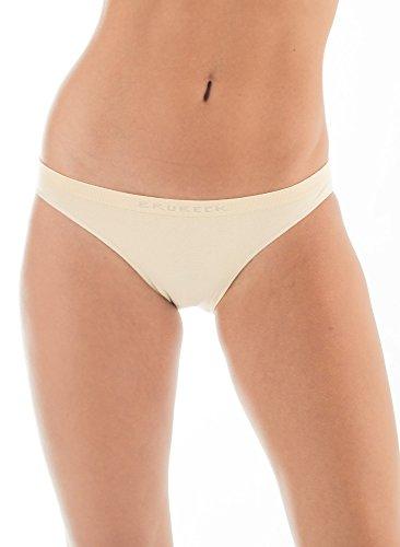BRUBECK® 5x BI00043 COMFORT COTTON Damen Bikini Slip   Perfect Fit   Nahtlos   Unterwäsche   Sport   Funktionswäsche   Baumwolle   Polyamid   Premium Qualität Beige