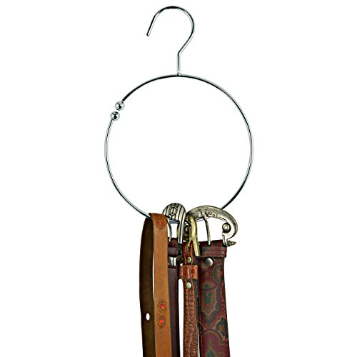 handy-belt-scarf-tie-ring-metal-chrome-with-hook-keeps-your-closet-space-pack-of-8