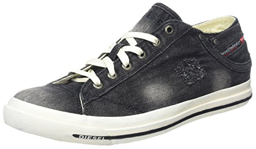 Diesel Herren Exposure Low I Sneaker, Schwarz (Black), 39 EU (Sneaker Exposure Low)
