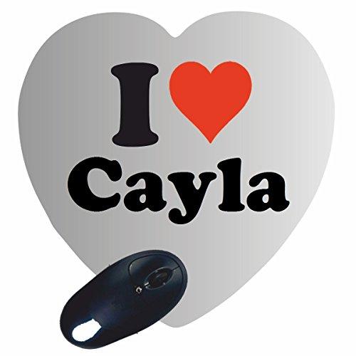 """EXCLUSIVO: Corazón Tapete de ratón """"I Love Cayla"""" , una gran idea para un regalo para sus socios, colegas y muchos más!- regalo de Pascua, Pascua, ratón, Palmrest, antideslizante, juegos de jugador, cojín, Windows, Mac OS, Linux, ordenador, portátil, PC, oficina, tableta, Amo, Made in Germany."""