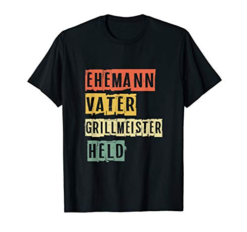 Grillmeister Kostüm - Ehemann Vater Grillmeister Held Vatertag Geschenk T-Shirt