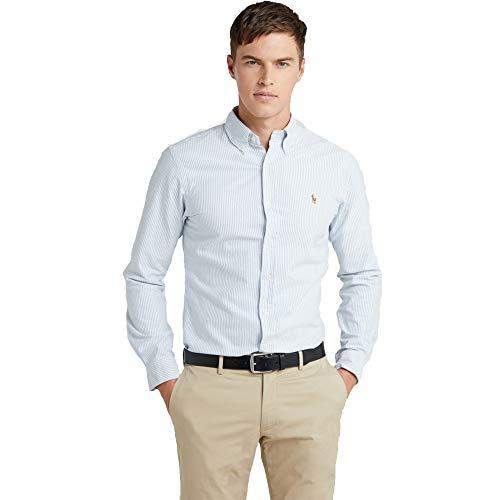 Ralph lauren camicie custom fit (xl, blue/white)