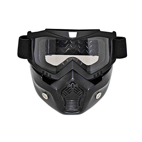 Motorrad abnehmbare Gesichtsmaske Brille Radfahren Bike Skibrille windundurchlässiges Motorrad Gesichts-Schutz Snowboard Brillen Regard