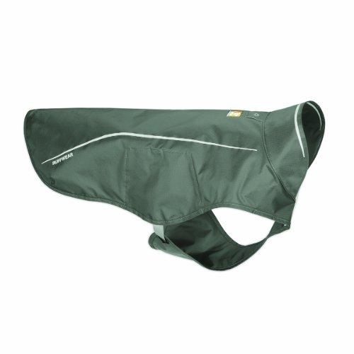 Ruffwear Wasserdichte Regenjacke für Hunde, Mittelgroße Hunderassen, Größe: M, Grau (Granite Grey) Sun Shower, 05301-035M