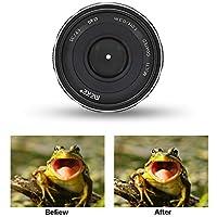 Acouto Lente de Montaje APS-C de Gran Apertura Meike Manual Focus F2.8 para cámaras sin Espejo de Canon