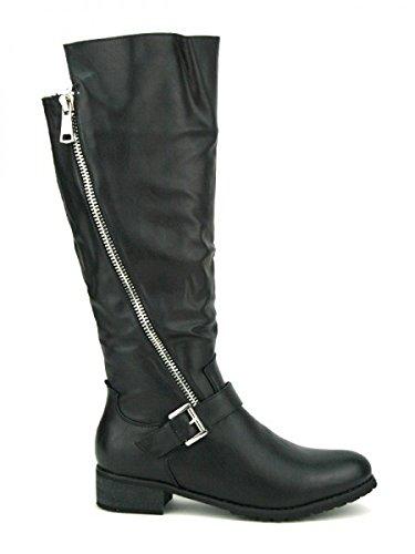 Cendriyon, Botte Noire JENNIKA Mode Chaussures Femme Noir
