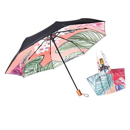MXH Handtasche Regenschirm Schatten UV-Schutz Taschenschirm Sonnenschirm Sonniger Regenschirm Taschenschirm,1